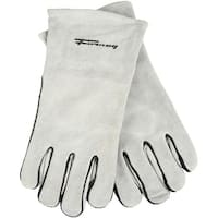 Forney 53429 Split Leather Men's Welding Gloves, Grey, X-Large