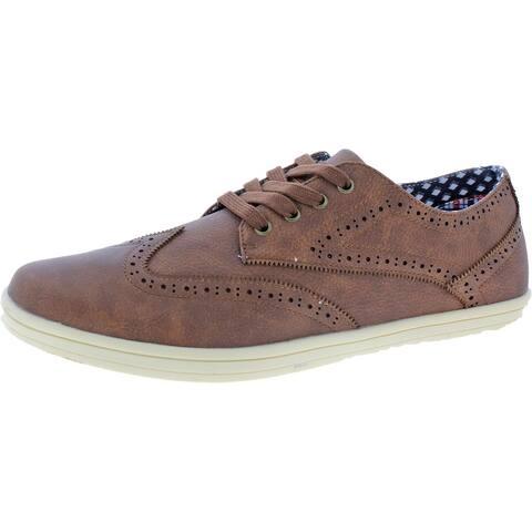 Ben Sherman Men's Nick Wingtip Vegan Leather Brogue Wingtip Oxford Sneaker