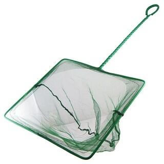 "Unique Bargains 11.2"" x 10"" Portable Handle Landing Net Fishing Fish Angler Mesh Fish Goldfish Shrimp Green"
