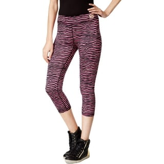 Michael Kors Womens Crop Leggings Stretch Zebra Print - XS