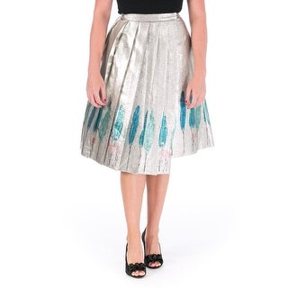 Vika Gazinskaya Womens Wrap Skirt Silk Blend Metallic - 44