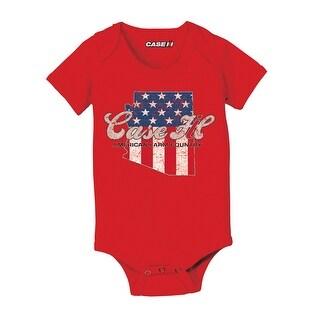 Case Ih Country Patriotic Az - Case Ih Infant One Piece