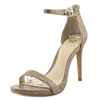 Vince Camuto Frenchie2 Women Open-Toe Leather Nude Slingback Heel