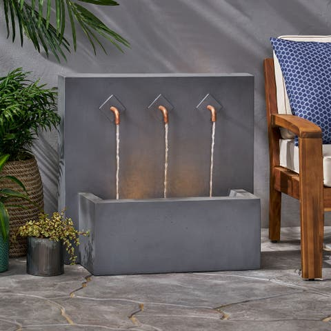 Cody Outdoor Outdoor 3 Spout Fountain by Christopher Knight Home