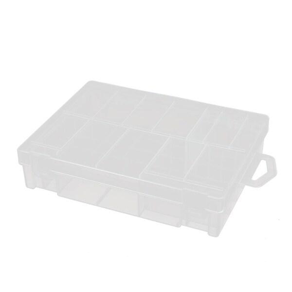 160mmx120mmx35mm Transparent Storage Case Hard Plastic Battery Holder Organizer