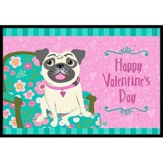 Carolines Treasures VHA3002JMAT Happy Valentines Day Pug Indoor or Outdoor Mat 24 x 36