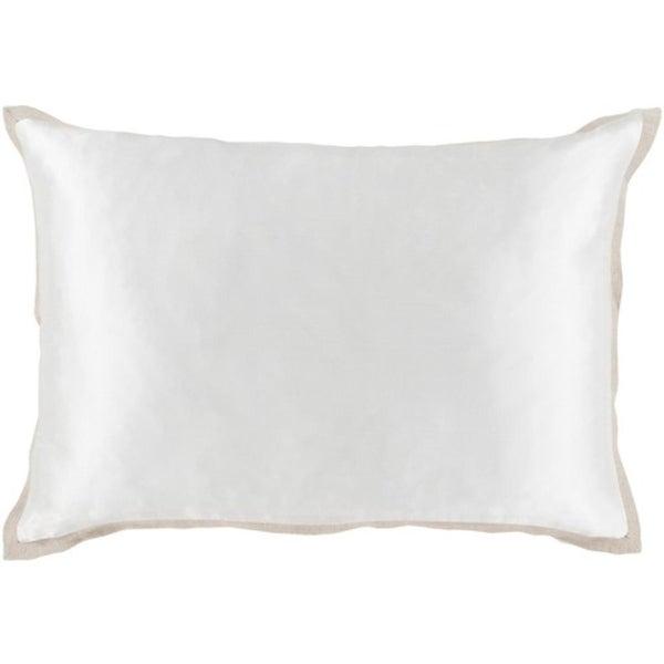 """13"""" x 18"""" White Woven Decorative Throw Pillow"""