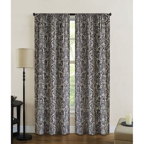 Dolce Paisley Light Filtering Window Curtain Panel Pair
