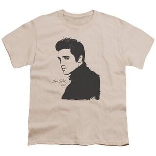 Elvis Black Paint Big Boys Youth Shirt
