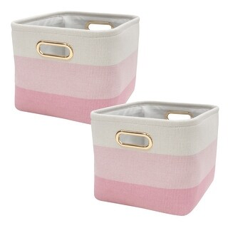 Lambs & Ivy Pink Ombre Storage Basket - 2 Pack