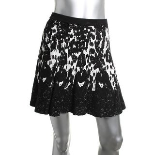 Lucy Paris Womens Jacquard Pull On A-Line Skirt