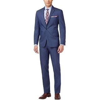 Tommy Hilfiger Marlin Flex Trim Fit Blue Suit 38 Long 38L Pants 32W