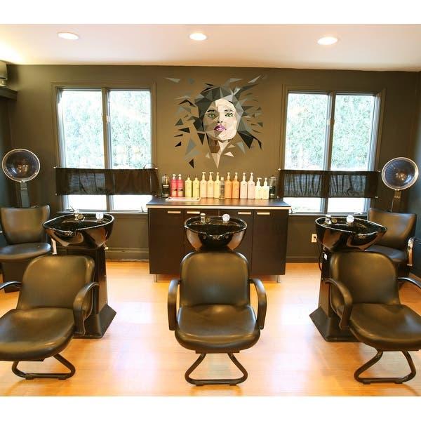 Shop Spa Salon Polygonal Wall Decal Beauty Salon Polygon Modern Wall Art Sticker Overstock 31812617