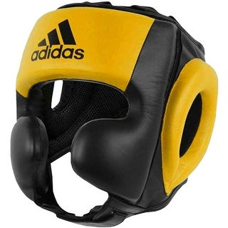 Adidas Quick Pull Sparring Training Boxing Headgear - Black/Yellow