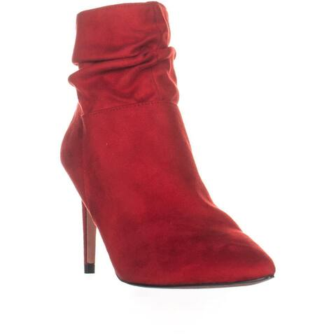 XOXO Taniah Pointed Toe Ankle Boots, Red