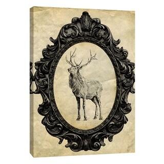 """PTM Images 9-105873  PTM Canvas Collection 10"""" x 8"""" - """"Framed Elk"""" Giclee Elk Art Print on Canvas"""