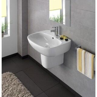 """Bissonnet Moda 50 Semi-Pedestal Moda 19-11/16"""" Vitreous China Wall Mounted Semi- - White"""