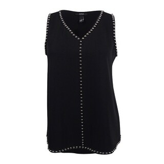 Alfani Women's Studded Sleeveless Tunic Blouse - 12