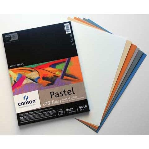 "Canson - Mi-Teintes Paper Pad - 9"" x 12"" - Earthtones"