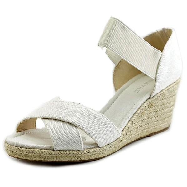 Nine West Renu Open Toe Canvas Wedge Sandal