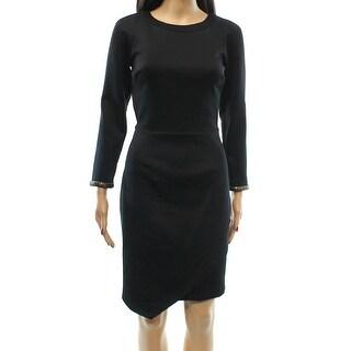 Rachel Rachel Roy NEW Black Women's Size 10 Sheath Cutout Scuba Dress