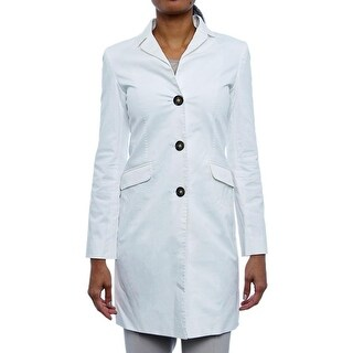 Cinzia Rocca Women Back Vent Button Up Trench Coat Trench White