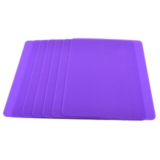 Silicone Washable Mice Pad Mouse Pad Mat Purple 7 PCS for PC Computer Laptop