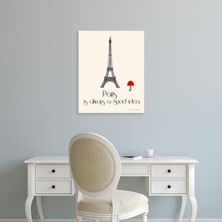 Easy Art Prints Jan Weiss's 'Paris' Premium Canvas Art