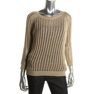 Vince Camuto Womens Knit Metallic Pullover Sweater - XL