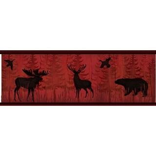 Brewster TLL01601B Saylorville Dark Red Lawndale Border Wallpaper - dark red lawndale - N/A