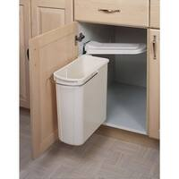Rev-A-Shelf 8-700411-20 8-700 Series Pivot Out Single Bin Trash Can - 21 Quart Capacity - White - N/A
