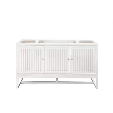 "Athens 60"" Single Vanity Cabinet , Glossy White"