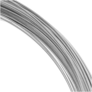 Beadalon 16 Gauge Round Wire, 1.75 Meter / 5.74 Foot Coil, Stainless Steel
