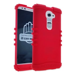 Rocker Series Skin Protector Case for LG G2 (Red)