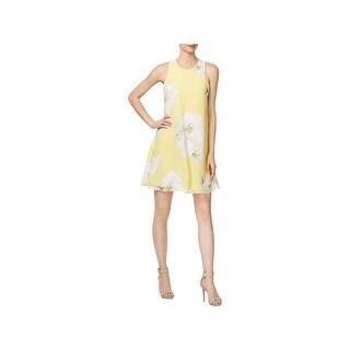 Calvin Klein Womens Wear to Work Dress Floral Print Shift