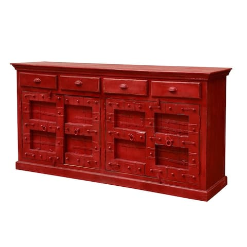 Rhu Home Woodland Red Wooden Sideboard