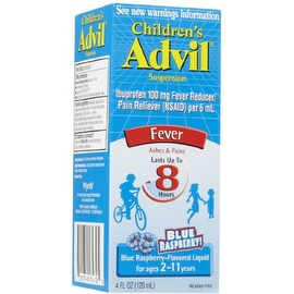 Advil Children's Suspension Blue Raspberry Flavored 4 oz