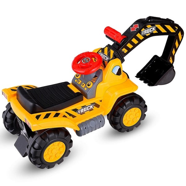 Kids Toddler Ride On Excavator Digger Truck Scooter. Opens flyout.