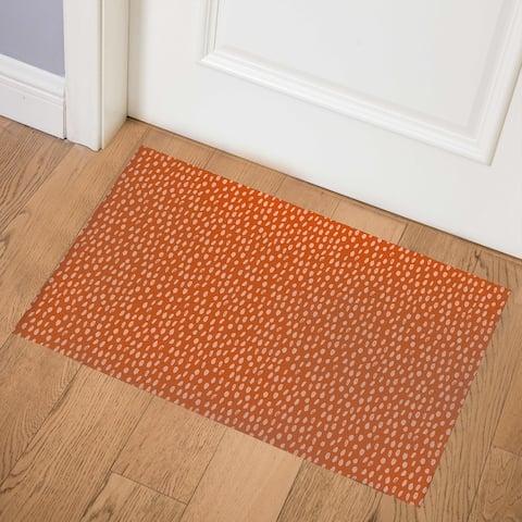 POLKA DOT ABSTRACT TERRACOTTA Indoor Door Mat By Kavka Designs