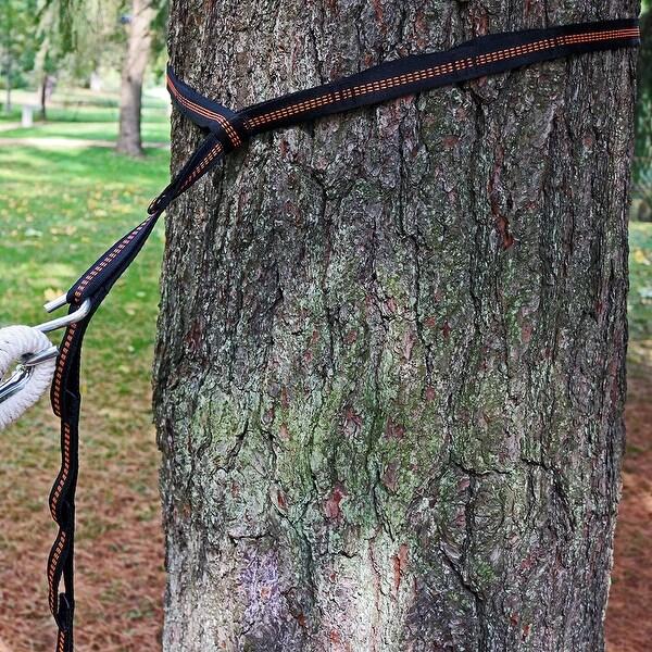 Sunnydaze Tree-Friendly Adjustable Hammock Hanging Straps Kit with Carrying Bag
