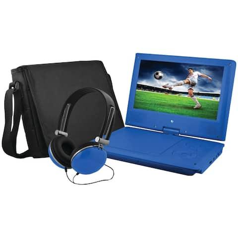 Ematic epd909bu 9 portable dvd player bundles (blue)
