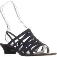 KS35 Estevee Strappy Slingback Sandals, Navy