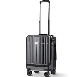 """Costway 20"""" Front Pocket Carry On Luggage Business Trolley Suitcase w/Double TSA Locks"""