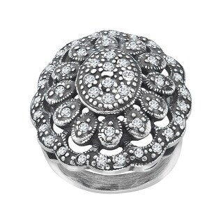Van Kempen Art Nouveau Ring with Swarovski Crystals in Sterling Silver