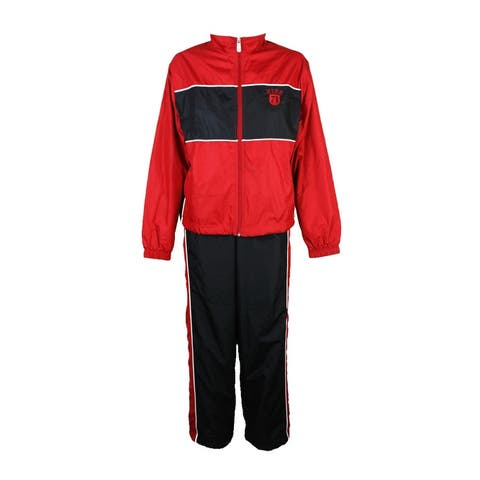 Nike Black Red Colorblocked Training Jacket And Pants L