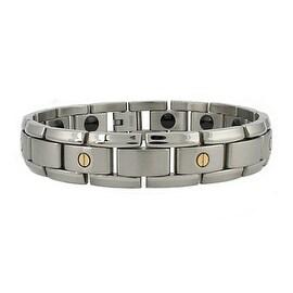 Men's Titanium Bracelet w/ 14K Golden Screw - 8.5 inches
