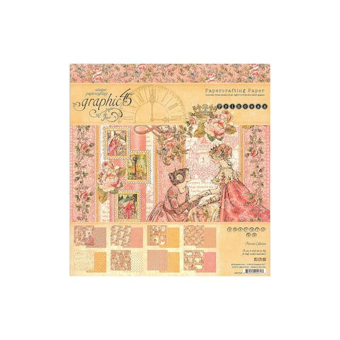 4501799 graphic 45 princess paper pad 8x8