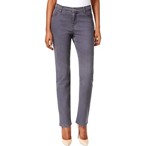 Lee Platinum Label Womens Gwen Straight Leg Jeans Denim High Rise