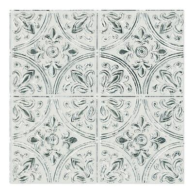 Chelsea Antique White Peel & Stick Tin Tiles