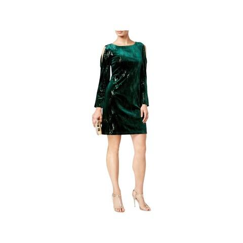 Jessica Howard Womens Cocktail Dress Sequined Velvet